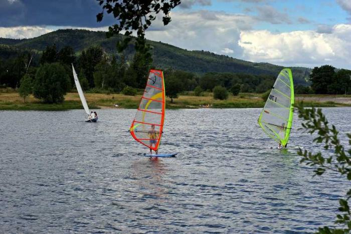 Jezoro sudety windsurfing z dobraintegracja.pl