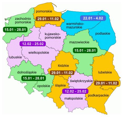MAPA FERII POLSKA 2018R.
