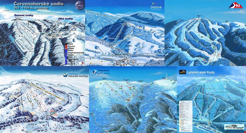 Czech ski mapa