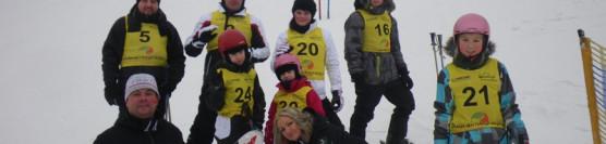 Szkoła narciarska, snowboard. Przełęcz Jugowska. Jugów Park. Sudety Środkowe. Góry Sowie