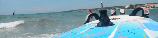Chorwacja 2013r. Rozpoczęcie wakacji z windsurfing, trikke i kitesurfing.