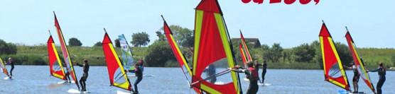 Intensywny kurs windsurfing.<br><strong>SUPER CENA OD 400 zł / os.</strong>