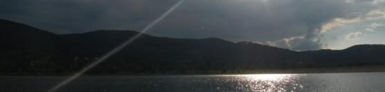 Jezioro Bielawskie, zwane też Zalew Sudety.
