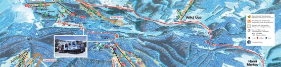 Ski Resort Cerna hora, Pec Janskie Laznie, czeska Czarna Góra.